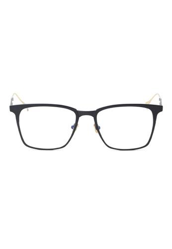 Kyfer's Eyewear & Essentials black and gold Full Metal Frame Glasses KY376AC06JDXSG_1