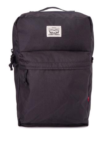 Levi's black L-Pack 1 Backpack LE892AC0J6ZNPH_1