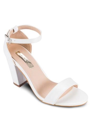 Aurella 粗跟繞踝高跟鞋,esprit童裝門市 女鞋, 鞋