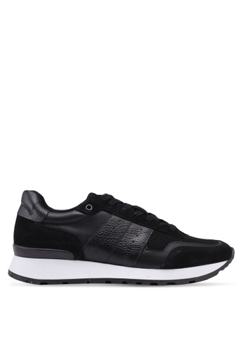Selected Homme black Frank Mix Runners 73C11SH0290226GS_1