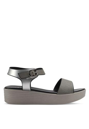 Spiffy silver Casual Wear Platform Sandals SP352SH0SRX7MY_1