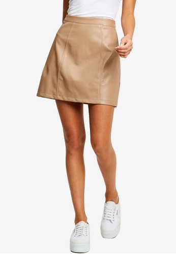 Calli brown Austin Mini Skirt 01E33AA35A02A8GS_1