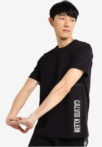 Calvin Klein black Mixed Material Tee - Calvin Klein Performance 32394AAA593790GS_1
