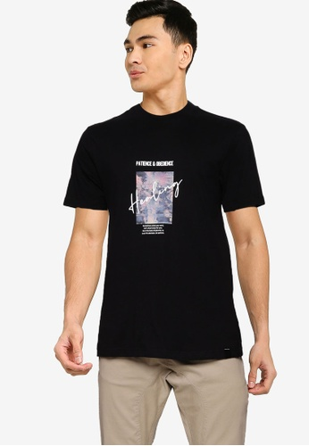 UniqTee black Patience And Obedience Graphic Tee B9503AAB389615GS_1