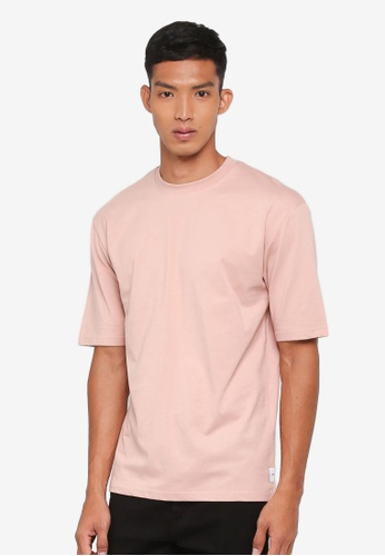 Only & Sons pink Donnie Oversized Tee F734FAA24D4B30GS_1