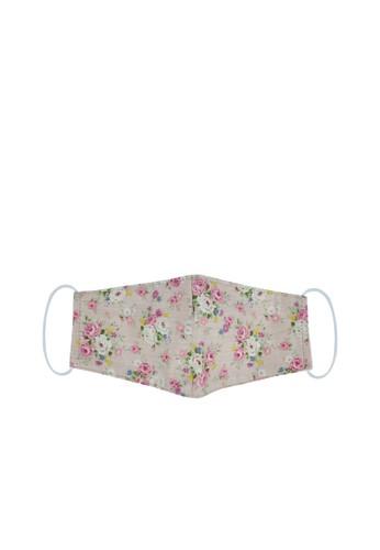MAYONETTE pink MAYONETTE Masker Kain Katun Premium 3 Ply Earloop Motif Bunga - Non-medis - 3 Pcs - Soft Pink 8559FES2BF47D0GS_1