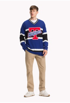 73205b82 50% OFF Tommy Hilfiger OVERSIZED HOCKEY JERSEY V NECK S$ 339.00 NOW S$  169.50 Sizes XS S