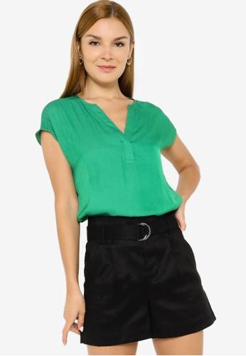 Banana Republic green Short Sleeves Essential Blouse CDB71AAEEB26CEGS_1
