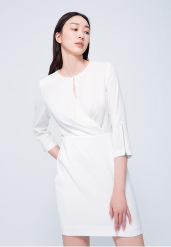 iROO white Mini Semi Dress ECB1FAA66119C3GS_1