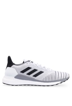 reputable site ff309 473c8 adidas white adidas performance solar glide sneakers 93237SH9465A0DGS1