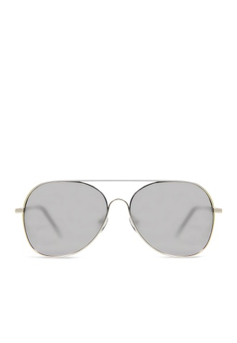 ASLLY multi and silver Milky Way│Silver Color mirror coating Pilot Sunglasses AF772GL257C8F1GS_1