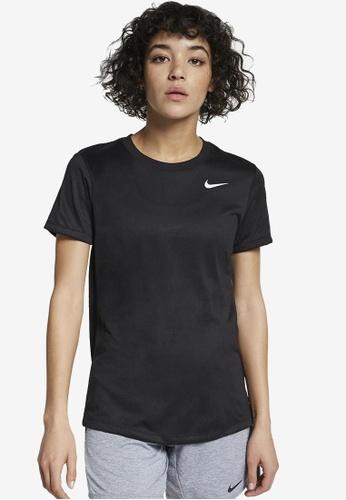 Nike black Women's Dri-FIT Legend Short Sleeve T-Shirt DB9BBAA273522AGS_1
