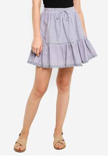 Cotton On grey Chi Trim Mini Skirt 92C96AA6D3433CGS_1