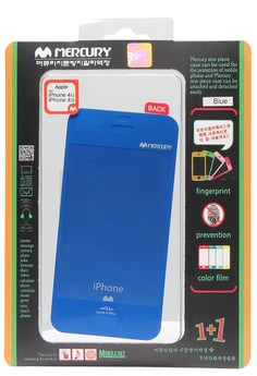 Anti-fingerprint Color Film iPhone 4/4S [Blue]