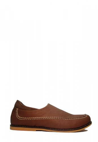 D-Island brown D-Island Shoes Casual Slip On LA Leather Brown D1E24SH46984ADGS_1