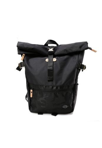 GreyPlus black Camo Minimalist Backpack GR720AC0FEICSG_1