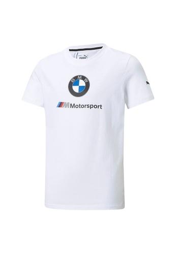PUMA white BMW M Motorsport Essentials Youth Tee 6506BKAF931284GS_1