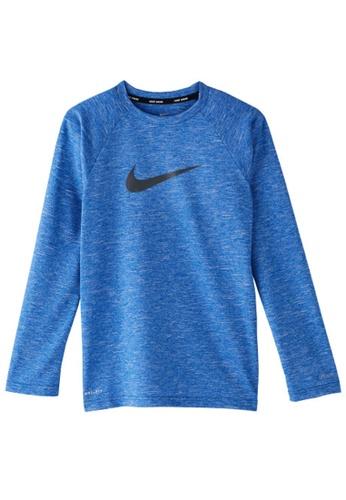 Nike blue Nike Swim Boy's Heather Long Sleeve Hydroguard 0BFE2AA3712F80GS_1