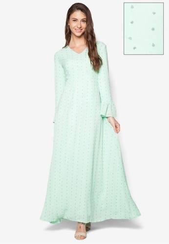 碎花荷葉飾長洋裝, 服飾,esprit 童裝 洋裝
