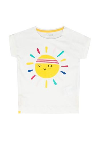 FOX Kids & Baby white Baby Girl Short Sleeve Tee E6421KA25CCBCEGS_1