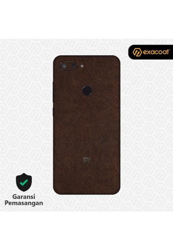 Exacoat Xiaomi Mi 8 Lite 3M Skins Leather Brown - Cut Only 280BDES62FDF65GS_1