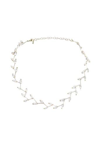 Red's Revenge gold Crystal Vine Bead Choker Necklace F88DEAC0904D5FGS_1