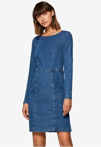 ESPRIT blue Stretchy Denim Dress 3FEA9AA9EBB56BGS_1