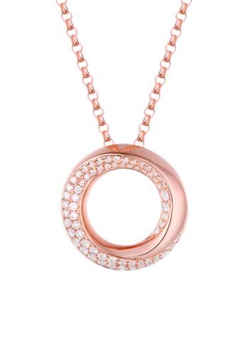 Vedantti 粉紅色 Vedantti 18K 漩渦雙排鑽-玫瑰金吊墜 1C06AAC409C78AGS_1