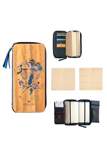Jacinto and Lirio multi Zippered Refillable Vegan Leather Fiesta Traveler's Notebook 0523FHL969DC0CGS_1