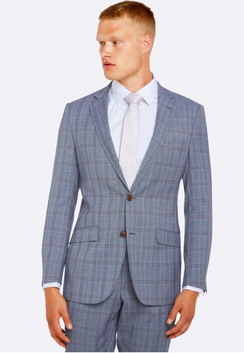 Oxford blue New Hopkins Wool Suit Jacket 20598AAE8F2F2DGS_1