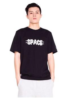 Reoparudo-RPD 反光太空標誌印花T恤(黑色)
