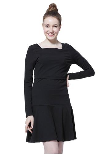 f5bbb1f356282 Mamaway black Square Neck Classic Maternity & Nursing Little Black Dress  0E474AAACE24ECGS_1