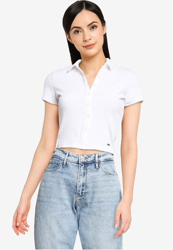 Hollister white Butt Thru Baby Polo Shirt 70CADAA659F2B3GS_1
