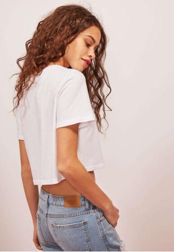Terranova white Plain Crop T-Shirt 82CDAAA04EA400GS_1