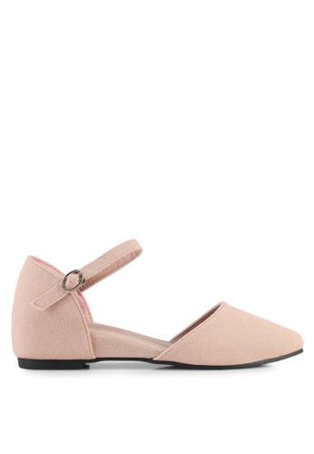 Mimosa pink Pointed Toe Flats E017ASH40F5E80GS_1