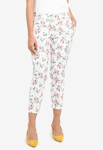 Dorothy Perkins multi Petite Ditsy Floral Trousers 3F2BBAAB831C7EGS_1