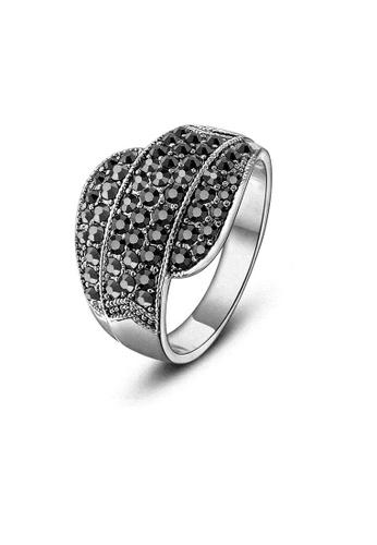 ADORA silver Black Crystal Ring DE61DAC7B58840GS_1