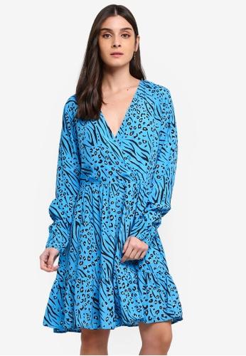 ONLY blue Muni Wrap Dress 98394AAA9B084EGS_1