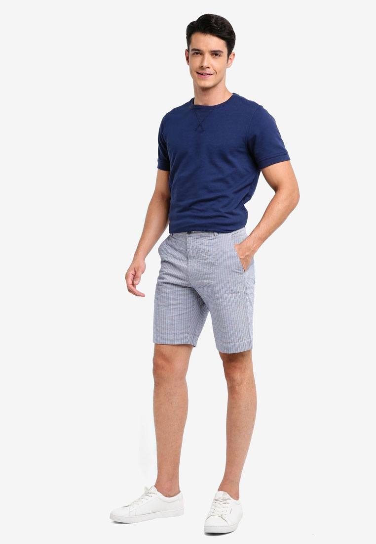 Navy Brooks Red Shorts Blue Seersucker Open Brothers Fleece vawxFHwE