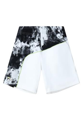 FILA black FILA x MSGM Tie Dye Color Blocks Bermuda Short 546D2AA2772AE8GS_1
