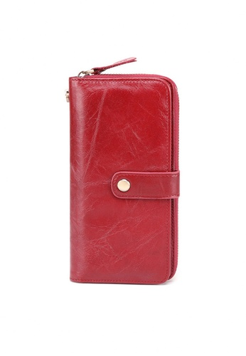 Twenty Eight Shoes red VANSA Burnished Leather Long Wallet VBW-Wt9371 4307AACEA6C113GS_1