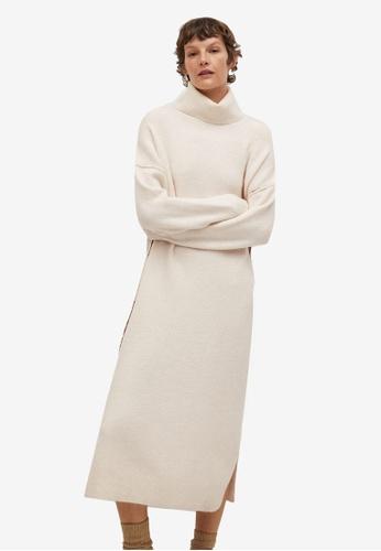 Mango beige Knitted Turtleneck Dress 7C9C3AAED1C725GS_1