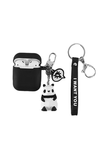 Kings Collection black Panda Keychain AirPods Case (KCAC2008) CABE7AC0A5A5E7GS_1