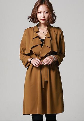 韓風時裝  剪切自然風衣 G1041, 服飾,zalora 手錶 評價 外套