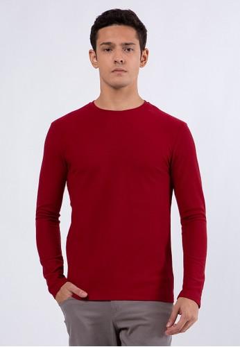 The Executive red Slim T-Shirt Maroon BC28FAAC4E6477GS_1