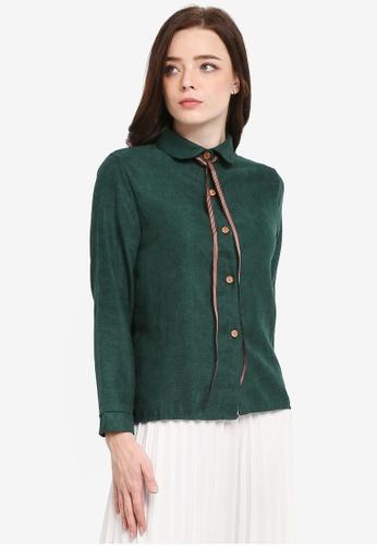 BYN green Long Sleeve Shirt 5E6BCAAA978874GS_1