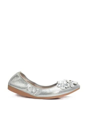 Twenty Eight Shoes 銀色 舒適人造鑽石閃光豆豆鞋 VL6281 45941SH4B938E1GS_1
