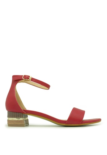 "Carlo Rino red Carlo Rino 33340-A016-04 1.5""Ankle Strap Dress Sandals (Red) A87C7SH3983DDDGS_1"