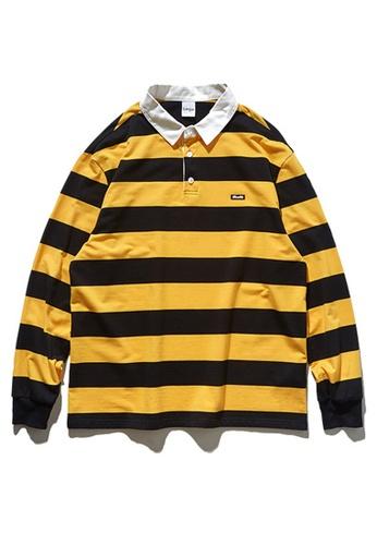 Twenty Eight Shoes Retro Contrast Stripe Long T-shirt 91504W 2B0ACAA01694D0GS_1