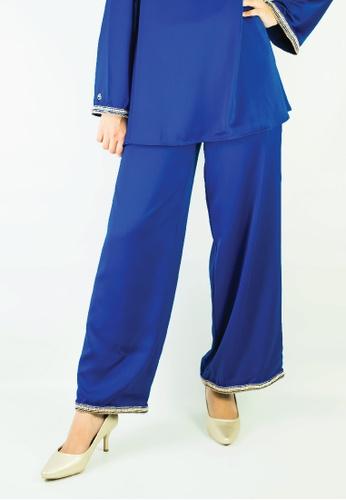 Zaryluq blue Baby Doll Pants in Royal Blue 139A6AA10B7618GS_1